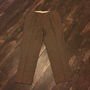 Orvis Brown Checkered Dress Pants. Sz 38W